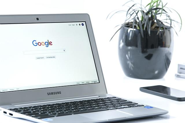 mobil, květina, notebook, google