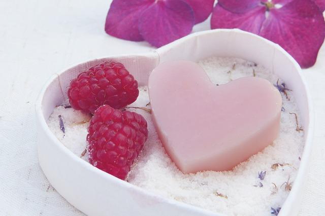 malinové srdce