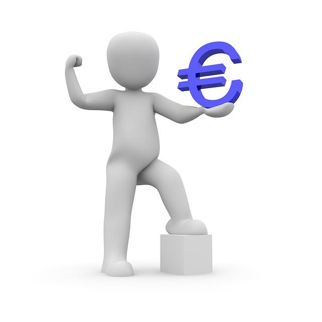 panáček se symbolem eura